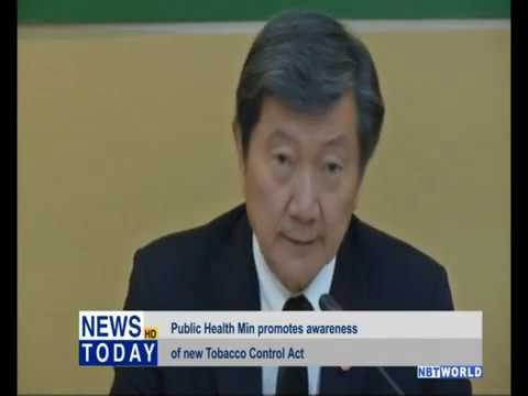 Public Health Ministry promotes awareness of new Tobacco Control Act