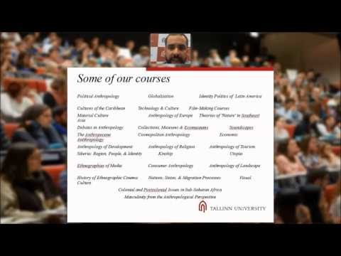 Webinar about Comparative Literature and Cultural Semiotics MA and Anthropology MA (2015)