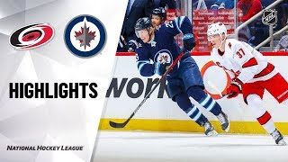 NHL Highlights | Hurricanes @ Jets 12/17/19