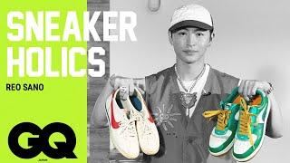"YouTube動画:佐野玲於(GENERATIONS)のクセ強めのスニーカーコレクション。""エアマックス""ならぬ""エアマック""とは?  Sneaker Holics S6 Ep3   GQ JAPAN"