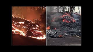 Hawaii volcano eruption: SHOCK video shows Kilauea red-hot molten lava ooze across streets