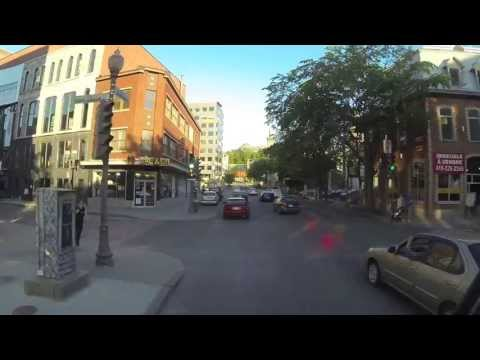Quebec City Lower Town driving