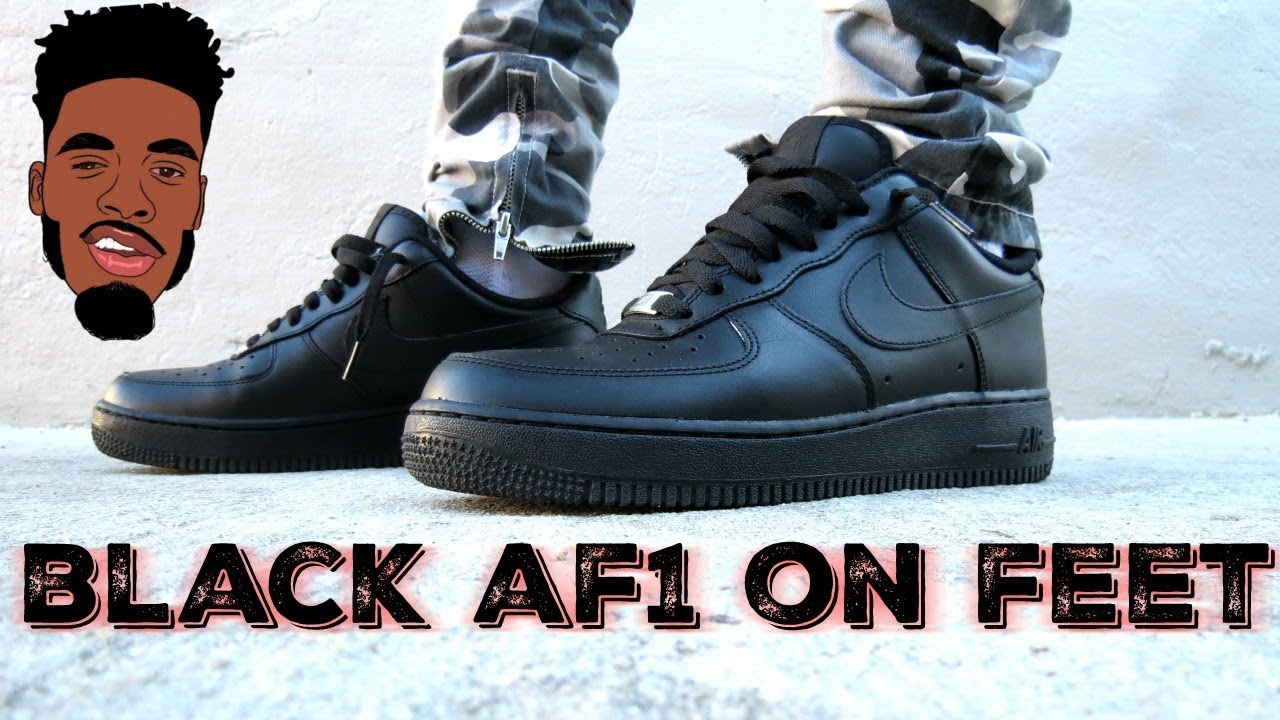 nike air force one nera in piedi unboxing e revisione