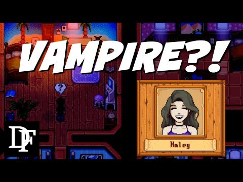Haley Is Secretly A..Vampire?! - Stardew Valley Gameplay HD