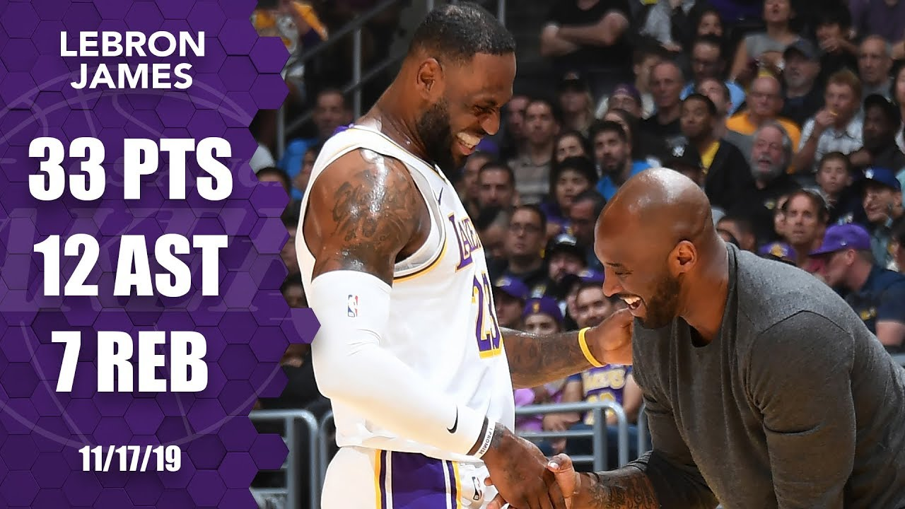 LeBron James puts on a show as Kobe Bryant sits courtside | 2019-20 NBA Highlights