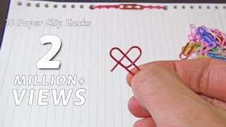 16 Paper Clips Life Hacks For Everyday Uses