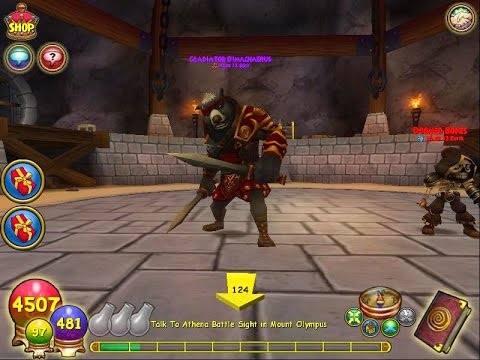 Wizard101: Aquila Secret Boss: Gladiator Dimachaerus - YouTube