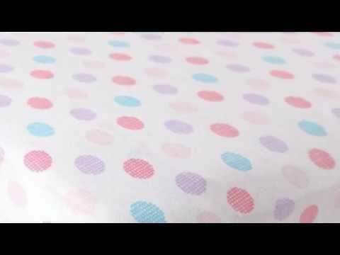 BABY: Fitted Knit Cotton Crib-Mattress Sheet - Bedding Crosshatch Dot, Pink
