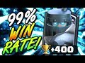 99% WIN RATE MEGA LADDER DECK!! +400 TROPHIES IN ONE HOUR!!