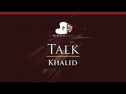Khalid - Talk - HIGHER Key (Piano Karaoke / Sing Along)
