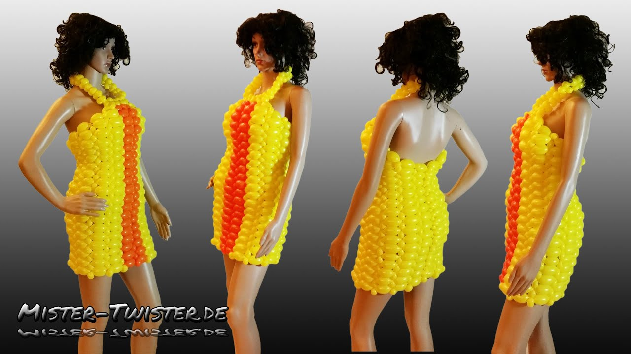 balloon dress fashion art decoration ballon kleid. Black Bedroom Furniture Sets. Home Design Ideas