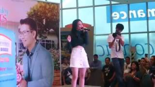 janella salvador at sm fairview sing the theme song of the achy breaky heart
