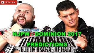 NJPW Dominion 2017 Cody vs. Michael Elgin Predictions WWE 2K17