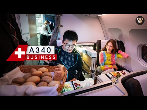SWISS A340 Business Class - Montreal to Zürich