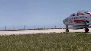 Shulman at Makos Jet Club Flying Awesome R/C F-86 Sabre Turbine Power