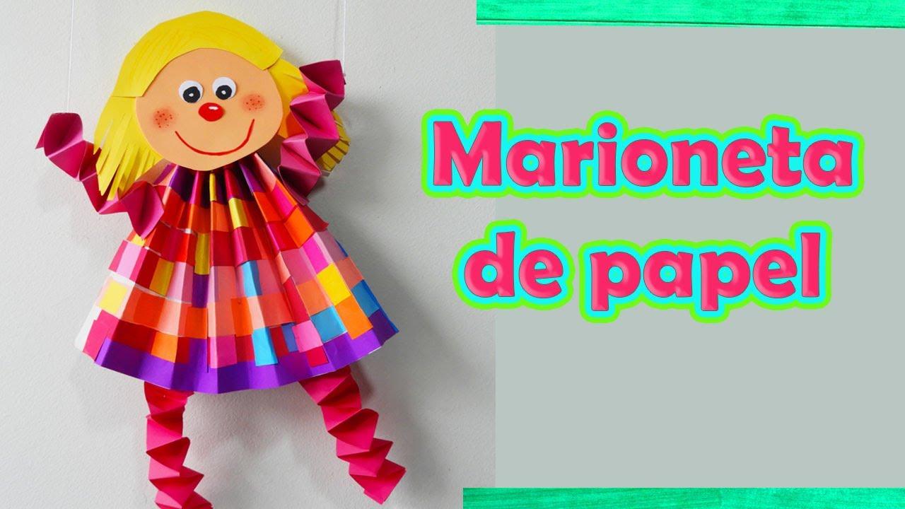 Como Hacer Marioneta De Papel Manualidades Diy Youtube