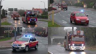 Angekündigte Notlandung - Flughafenübung Lilienthal 2015 - Anfahrten BF/STF Dresden