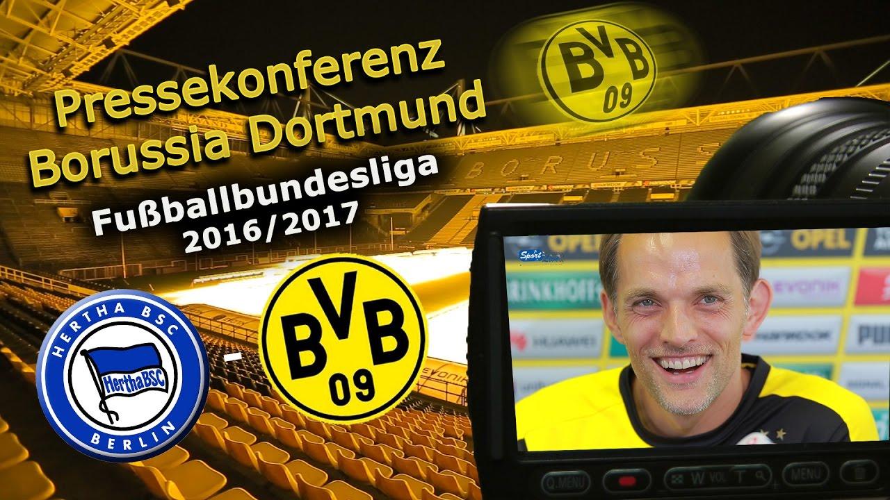 Hertha BSC - Borussia Dortmund: Pk mit Thomas Tuchel