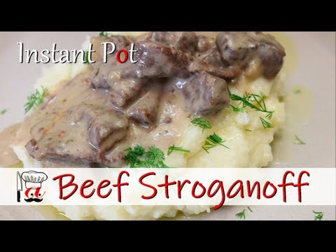 Creamy and Quick Beef Stroganoff | Instant Pot Recipes