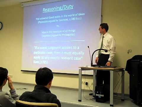 Undergrad Lecture Ethics in Professions