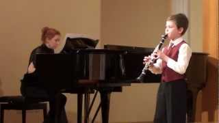 Д. Мийо Маленький концерт для кларнета и ф-но
