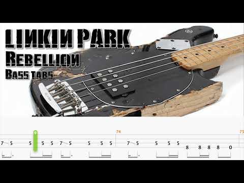 rebellion (official bass tabs video) - linkin park