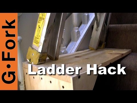 use-a-ladder-on-the-stairs--ladder-stairwell-hack---gardenfork