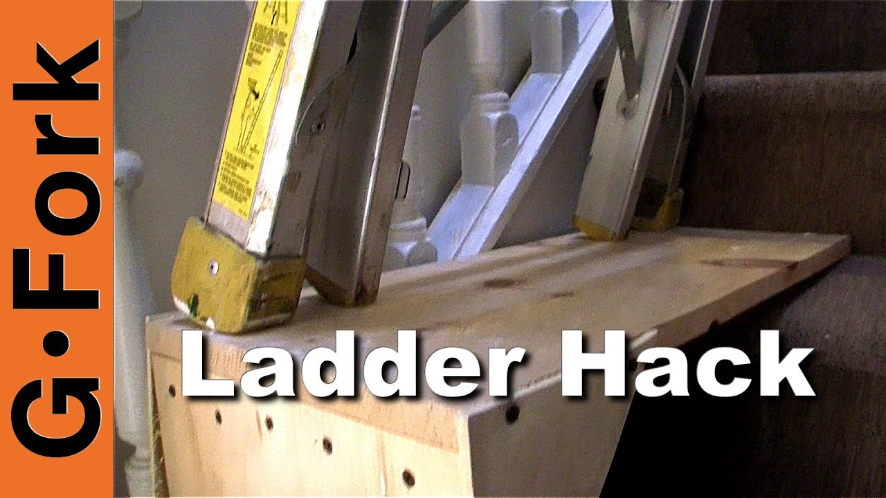 Use A Ladder On The Stairs Ladder Stairwell Hack