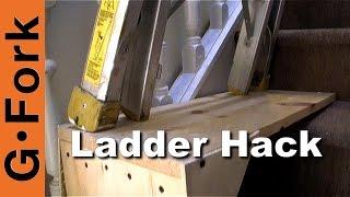 Use A Ladder On The Stairs- Ladder Stairwell Hack - GardenFork