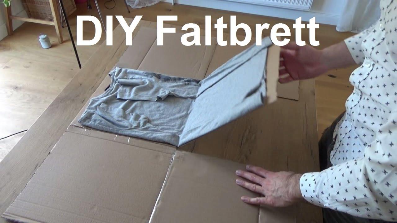 t shirt falten wie sheldon faltbrett selber basteln bauen. Black Bedroom Furniture Sets. Home Design Ideas