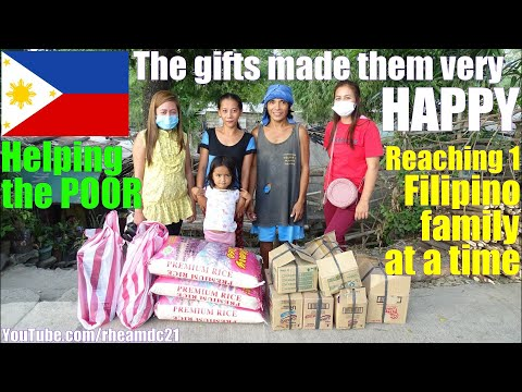 We Give Help to Filipino Families One at a Time. Travel to the Philippines and See Poverty. The POOR