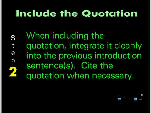 Quotation Integration, pt. 1 - YouTube