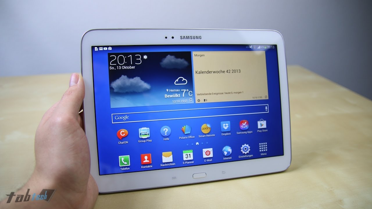 review samsung galaxy tab 3 10 1 im test tabtech de   youtube