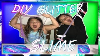 DIY GLITTER SLIME  | HOW TO MAKE SLIME | LIFE WITH BROTHERS