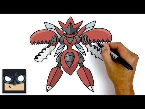 How To Draw Mega Scizor   Pokemon