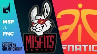 [Match of the Day] MSF vs FNC - LEC 2019 Spring Split W3D2 - Misfits vs Fnatic