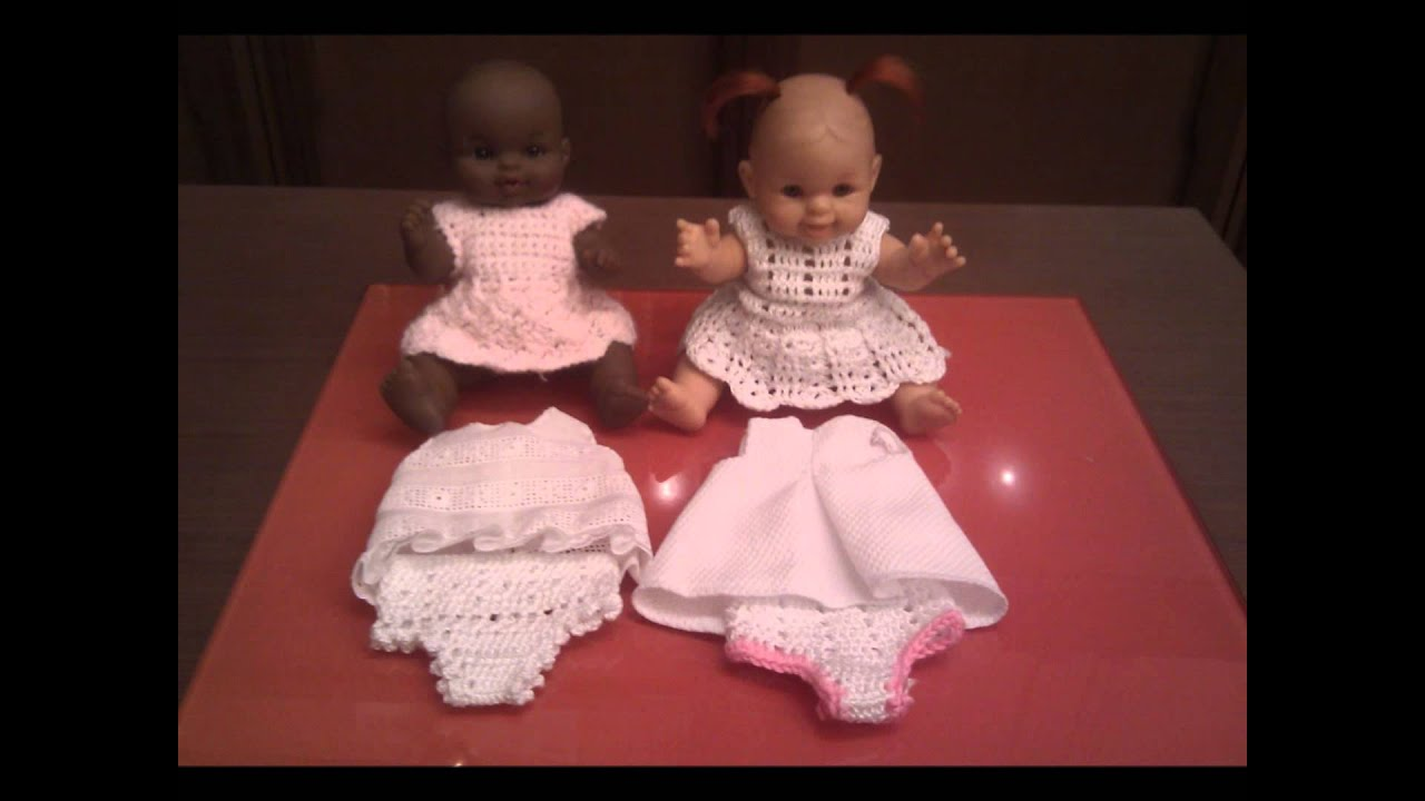 Crochet Patterns Doll Clothes : Crochet doll clothes - YouTube