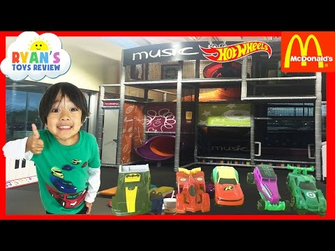 McDonald Indoor Playground for kids Hot Wheels Cars DC Comics Super Heroes Happy Meal Surprise Toys