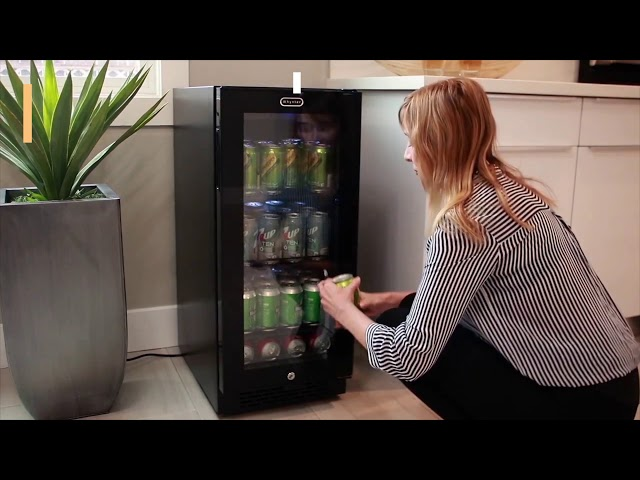 Whynter Built-in Black Glass 80-can capacity 3.4 cu ft. Beverage Refrigerator BBR-801BG