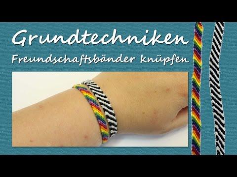 DIY Tutorial – Grundtechnik Freundschaftbändchen: Einfache Armbänder knüpfen | kreativBUNT