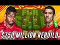 $750 MILLION MAN UNITED REBUILD WHOLE TEAM CHALLENGE - FIFA 18 CAREER MODE