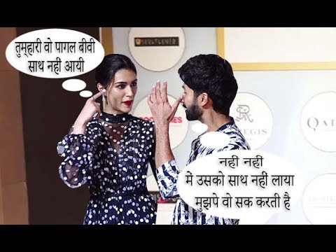 Shahid Kapoor Crazy Reaction When Kriti Sanon Asked About His Wife Mira Rajput At SPA INDIA AWARDS