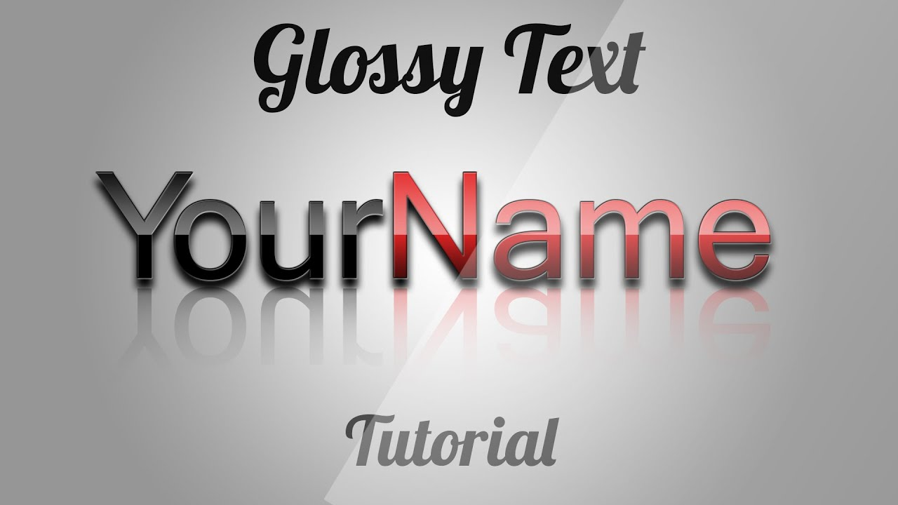 Glossy text effect photoshop cs6 tutorial 2014 youtube glossy text effect photoshop cs6 tutorial 2014 baditri Images
