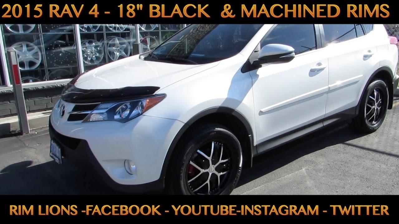2015 Toyota Rav 4 With 18 Inch Custom Black Rims Tires Youtube