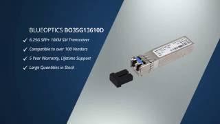BlueOptics© BO35G13610D - SFP+ 6.25 Gigabit, 1310nm, 10KM, Optical Fiber Transceiver, DDM/DOM