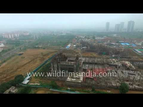 MNC office buildings under construction in Gurgaon