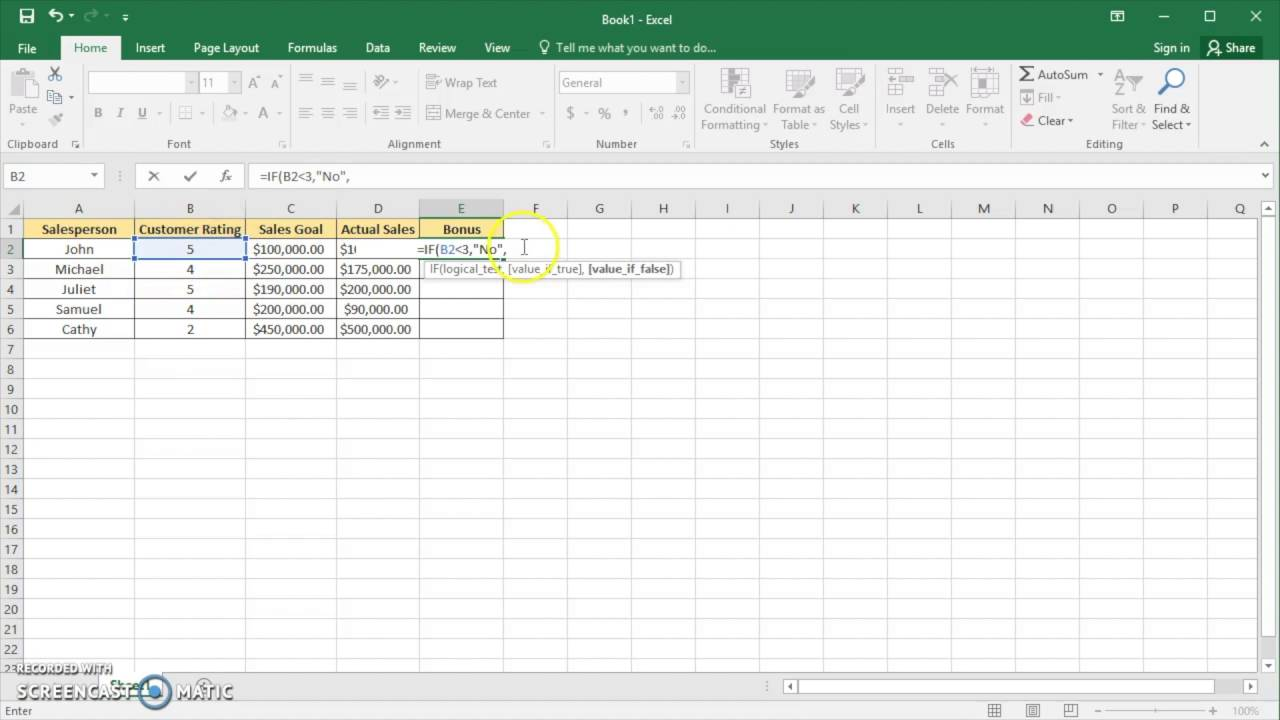 excel 2016 nested if statements youtube