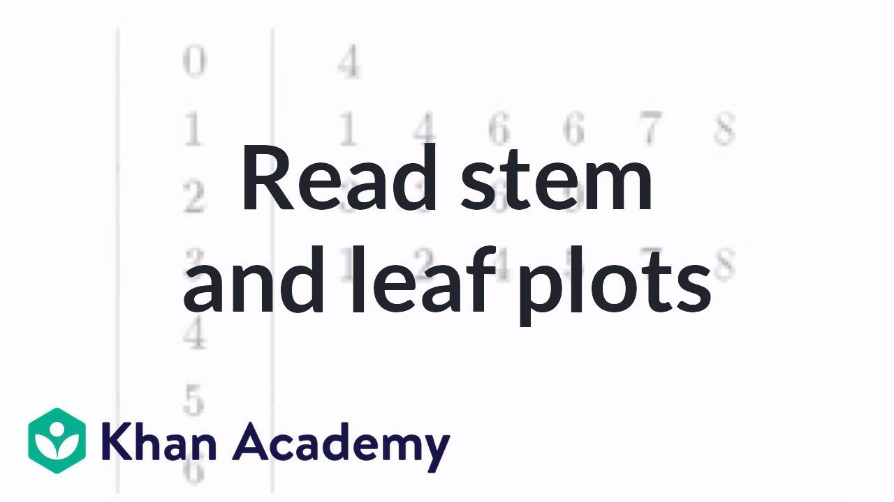 medium resolution of Reading stem and leaf plots (video)   Khan Academy