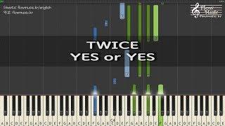 트와이스 (TWICE) - YES or YES Piano Tutorial 피아노 배우기 /トゥワイスピアノ