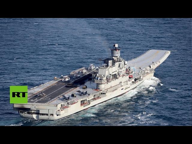 El grupo de ataque de portaaviones regresa a Rusia tras su misión en Siria